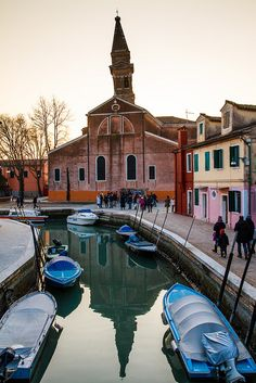 Leaning Tower of Burano, Veneto, Province of Venezia , Italy. A visit to Burano while in Venice is a must!