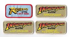 The Movies of Indiana Jones Logos Embroidered Patch Set of 4, NEW UNUSED picclick.com