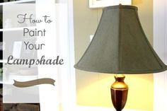 How to Paint a Lampshade - The Creek Line House
