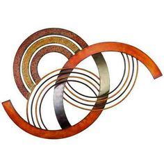 ABCHomeCollection Energetic Abstract Metal Wall Art