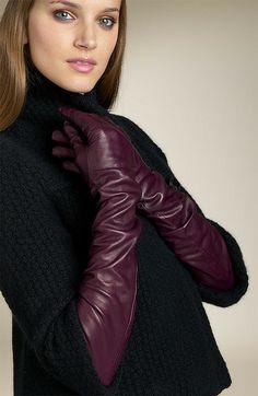 Elegant Gloves, Gloves Fashion, Fashion Accessories, Long Gloves, Women's Gloves, Black Leather Gloves, Rain Wear, Mitten Gloves, Leather Fashion