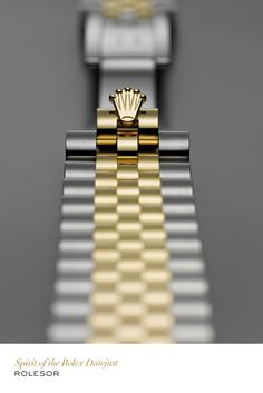 The juxtaposition of gold and steel, a true Rolex signature. #RolexOfficial #Datejust