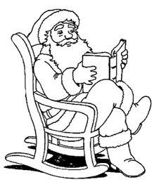 DRAWINGS TO PAINT: Santa Claus.