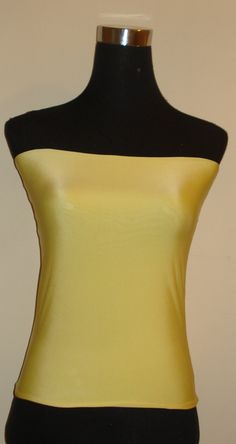 Mid Yellow Bandeau top boobtube crop top tube top crop tube top To Wear With Multiway Infinity Dresses by stitchawayrose on Etsy