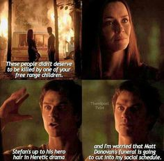 #TVD The Vampire Diaries 7x4 Lily & Damon, sort of a spoiler for me.. I don't even think I finished episode 4 completely.