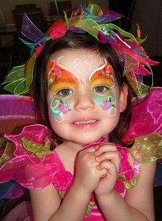 Maquillaje artistico infantil sencillo