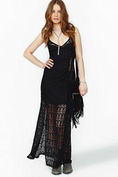 Hendrix Crochet Maxi Dress by Nasty Gal