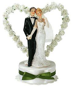 DéCORATION MARIAGE Hymen Couple De Mariés Mixte Blanc Noir