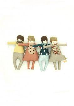 Cute fabric dolls!
