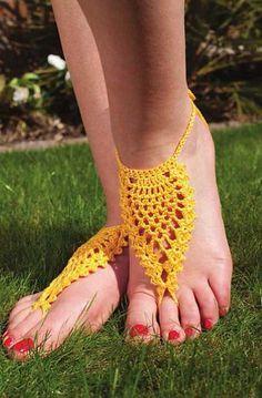 Crochet Pineapple Footless Sandal Anklet - £3.25