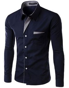 Item Type: Shirts Gender: Men Pattern Type: Solid Sleeve Style: Regular Style: Slim Fit Closure Type: Single Breasted Brand Name: None Fabric Type: Broadcloth Material: Cotton Material: Polyester Coll