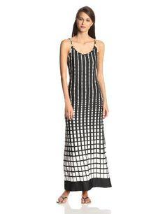 MSK Women's Sleeveless Maxi Dot Dress