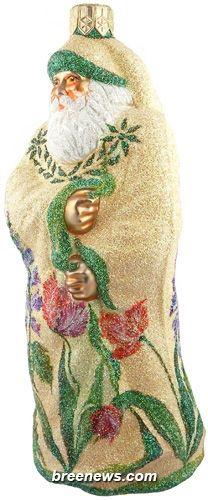 Redoute Santa (Parrot Tulips/ Delphinium) Patricia Breen Designs  (Flowers, Green, Lavender/violet, Pink, Purple, Yellow, Spring)