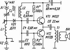 Loudspeaker crystal set circuit diagram