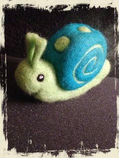 Items similar to Needle felted Snail - OOAK on Etsy Wool Needle Felting, Wet Felting, Wet Design, Snail Art, Fibre And Fabric, Felt Baby, Hearth And Home, Felt Hearts, Felt Toys