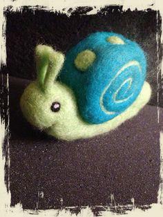 Needle felted Snail - OOAK on Etsy, $12.00