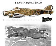 Savoia Marchetti SM.79 Italian Air Force, Italian Army, Ww2 Aircraft, Military Aircraft, Military Art, Military History, Fighting Plane, Spanish War, Aviation Art