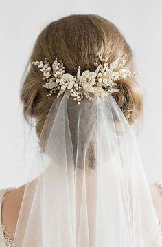 JASMINE | floral wedding hair comb