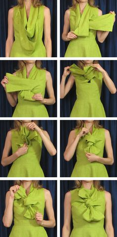 Lovely bow top dress from… Diy Clothing, Sewing Clothes, Sewing Hacks, Sewing Tutorials, Dress Patterns, Sewing Patterns, Fabric Manipulation Techniques, Couture Sewing, Pattern Cutting