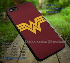 Wonder Woman Vintage Logo iPhone 6s 6 6s  5c 5s Cases Samsung Galaxy s5 s6 Edge  NOTE 5 4 3 #cartoon #wonderwoman #superheroes dt