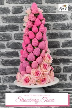 Chocolate Covered Treats, Chocolate Dipped Strawberries, Pink Chocolate, Chocolate Hearts, Bridal Showers, Baby Showers, Wedding Strawberries, Strawberry Tower, Birthday Brunch
