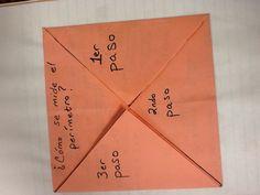 Plegable (modelo de papel) para medir el perimetro.