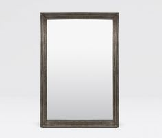 "Bernard Mirror in Zinc Metal Finish with a wave profile border. 26""W x 38""H"