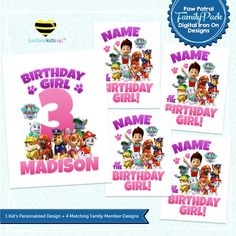 Paw Patrol Iron On Designs Family Pack