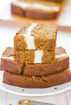 Cream Cheese-Filled Pumpkin Bread  by averiecooks: Pumpkin bread that's like having cheesecake baked in. Soft, fluffy, easy and tastes ahhhh-mazing. #Pumpkin_Bread #Cream_Cheese