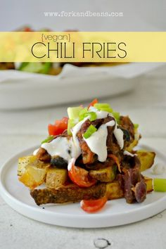 Vegans can do decadent too! Challenge an omin with these Vegan Chili Fries.