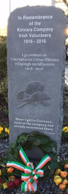 Moments in Time, A Genealogy Blog: Friday's Photo: In Remembrance of the Kinvara Company Irish Volunteers 1916 - 2016