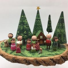 Image may contain: plant and outdoor Merry Christmas To All, Magical Christmas, Christmas Ornaments, Family Christmas, Wood Peg Dolls, Clothespin Dolls, Christmas Projects, Holiday Crafts, Wooden Pegs