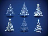 Arbres de Noël moderne