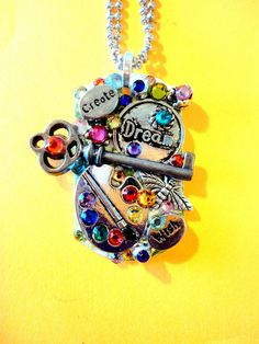 Create A Dream Dog Tag Pendant Number 941 by BradosBling on Etsy, $34.99