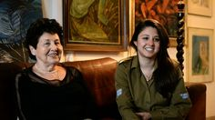 For Holocaust Remembrance Day...Youngest Holocaust Survivor from Oskar Schindler's list.  Picture of her and your eldest granddaughter who is in the IDF