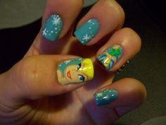 Tinkerbell Nails by artsynails.deviantart.com on @DeviantArt