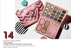 Top 25 Gifts: 14.) Too Faced A Few of My Favorite Things Set. Shake it up with these handpicked blushes, shadows, and tints. #Exclusive #Sephora #Giftopia #holiday
