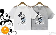 Mickey Mouse Sequins Top with Translucent Short Sleeves! Enchanting & Timeless Pop Fashion Trend! FREE Peninsular Delivery.