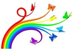 Animal Wall Decals Rainbow Butterflies - 24 inches x 17 inches - Peel and Stick Removable Graphic Wallmonkeys Wall Decals http://smile.amazon.com/dp/B004Q4PPQU/ref=cm_sw_r_pi_dp_wP7Fub1PE7VYR
