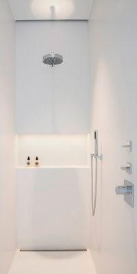 modern shower room design inspiration by COCOON Bathroom Photos, Bathroom Spa, Laundry In Bathroom, Bathroom Renos, White Bathroom, Small Bathroom, Bathroom Lighting, Ensuite Bathrooms, Shower Lighting