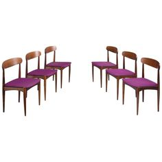 Johannes Andersen Dining Chairs in Rosewood
