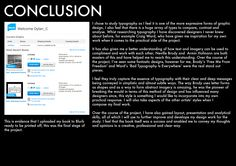 Conclusion Page.