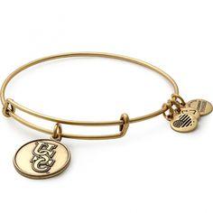 'University of South Carolina® Logo Charm Bangle - Gold finish