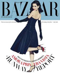 Dita Von Teese for Harper's Bazaar Spain February 2015