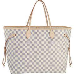 Louis Vuitton Damier Azur Canvas Neverfull Gm N51108 All,$212