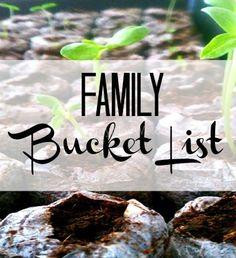 Family Bucket List Ideas