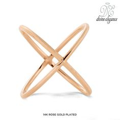 Divine Elegance Sterling Silver X Ring - Assorted Finishes at 86% Savings off Retail!