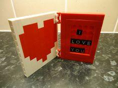 "Lego ""I Love You"" Card Lego Card, Lego Valentines, Embellishments, Love You, Cards, Ornaments, Te Amo, Je T'aime, I Love You"