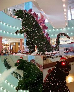 Godzilla Christmas tree spotted in Japan.