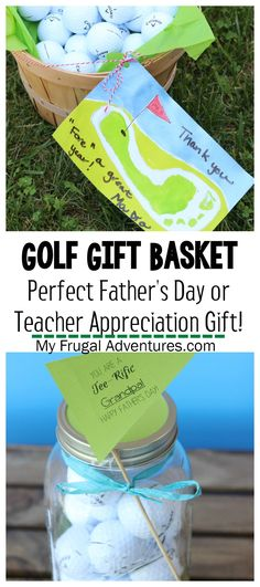 Easy and fun Golf Gift Basket idea- perfect Teacher Appreciation Gift or Father's Day gift!